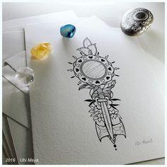 """Arte encomendada para tattoo, destino: Rio de Janeiro-RJ. """"OXUM, XANGÔ E OGUM"""" https://www.instagram.com/notovitch/"""