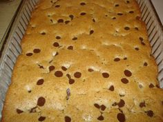 best blonde brownies with chocolate chips | These are the BEST! One time, my SIL made this for me and added ice ...