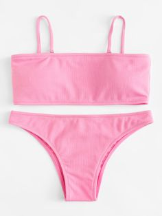 SheIn offers Detachable Straps Bikini Set & more to fit your fashionable needs. Bathing Suits For Teens, Summer Bathing Suits, Cute Bathing Suits, Summer Suits, Cute Swimsuits, Cute Bikinis, Mode Du Bikini, Strap Bikini, Bikini Outfits