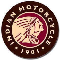 "Indian Motorcycle 1901 12"" Round Tin Sign Nostalgic Metal Sign Retro Home Decor"