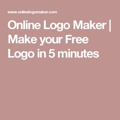 Make your Free Logo in 5 minutes Diy Online, Online Logo, Presentation Software, Poster Maker, Film Making, Video Maker, Free Logo, Logo Maker, Make It Yourself