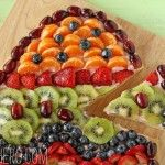 Easter Fruit Pizza  Cute, healthy, Easter egg. I love simple and creative ideas like this. Thank you!