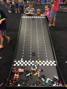 Build your own car then race it down the many ramps against friends and family!