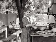 """July 1936. """"Child of migratory fruit worker in tent camp at Yakima, Washington."""" Seen earlier here. Medium format negative by Arthur Rothstein."""