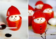 Christmas Food – Miss Happy (Best Christmas Snacks) – Nonperest - Obst Party Finger Foods, Snacks Für Party, Cute Food, Good Food, Yummy Food, Food Carving, Party Buffet, Christmas Snacks, Food Decoration