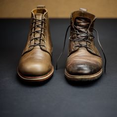 The Railroad Boot /// before and after /// HELM Boots USA