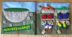 Farmer's Market Quiet Book Page