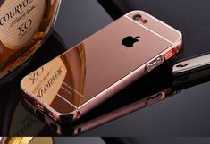 Phone Case Coque for iPhone SE 5 6 7 Plus Luxury Metal Aluminum Frame+Acrylic Mirror Back Cover Full Protective Bag Iphone 5c Cases, Pc Cases, Apple Iphone, Computer Love, Luxury Mirror, Iphone Design, Coque Iphone, Iphone Models, Portable