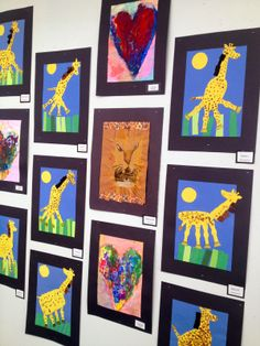 Art Show-Lions and Giraffes-Art with Mr. Giannetto Blog-Elementary Art