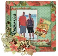 Memories Frame using KC products. Travel Scrapbook, Scrapbook Pages, Scrapbooking Ideas, Scrapbook Layouts, Memory Frame, General Crafts, Craft Items, Projects To Try, Sketches