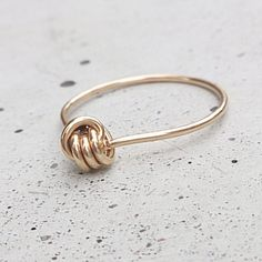 "Ring ""Knoten Diamant"" // ring by Kizzu via DaWanda.com"