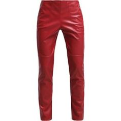 Spodnie damskie Patrizia Pepe - Zalando Patrizia Pepe, Parachute Pants, Leather Pants, Red Clothing, Blouse, Clothes, Fashion, Red, Leather Jogger Pants