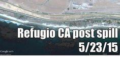 Refugio CA post spill 5/23/15 (courtesy of @Pinstamatic http://pinstamatic.com)