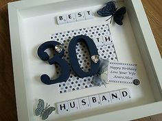 Scrabble Tile frame personalised Milestone 18th 21st 30th 40th birthday gift