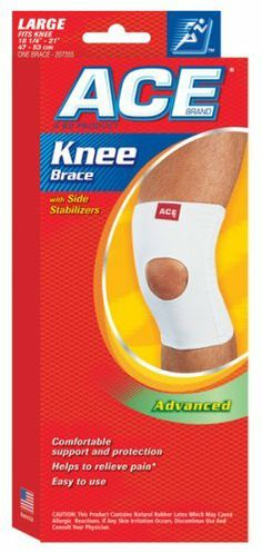 Ace Plus Open Knee Brace With Side Stabilizers Large Advanced By Ace 6 99 Indications Ace Brand Plus Knee Brace Support L Knee Brace Braces Flexibility