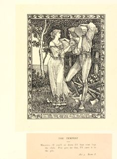 Walter Crane ~ Shakespeare's Tempest