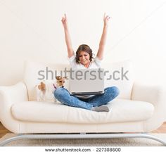 Laptop Woman Stock Photos, Images, & Pictures | Shutterstock