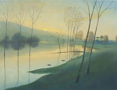 Nicholas Hely Hutchinson | (12) Evening by the Flooded River - Hanford