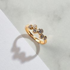 A beautiful diamond ring from the Stepping Stones collection! Handcrafted in gold and skilfully flush set with beautiful round brilliant cut diamonds. Stonechat, Personal Achievements, Beautiful Diamond Rings, Personal Progress, Statement Rings, Stepping Stones, Creme, Highlights, Ann