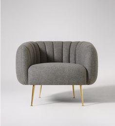 Monroe, Armchair, Granite Grey