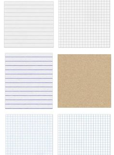 These are free, seamless notebook textures that you can use for print and website design. Awesome!