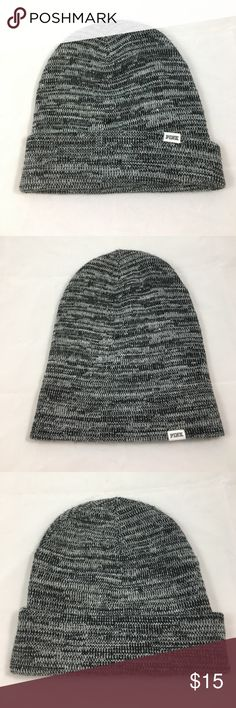 HP 🎉 NWOT Black & Gray PINK Beanie Brand new, never worn gray and black winter hat. This hat will keep you nice and warm! It can be worn unfolded or folded. I unfortunately just don't wear hats enough so it sat in my closet for too long and needs to find a home where it will actually be used! PINK Victoria's Secret Accessories Hats