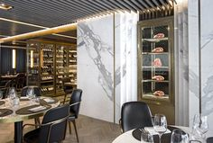 Get amazed and explore some of these creative interior design projects by Humbert & Poyet! Monaco Restaurant, Luxury Restaurant, Restaurant Interior Design, Top Interior Designers, Cafe Interior, Best Interior, Luxury Interior, Luxury Furniture, Interior Architecture