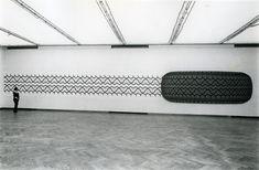 Peter Stämpfli, M 301, 1970 210 x 3100 cm Huile sur toile et empreinte sérigraphiée