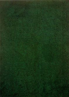 constantarrival:   yesmaybe: No. Green No. 1, 1961, Yayoi #Kusama.