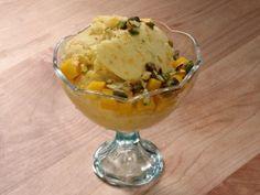 Kulfi, aka Indian ice cream, whips mango, banana, pistachio and cardamom into a frozen yogurt base.