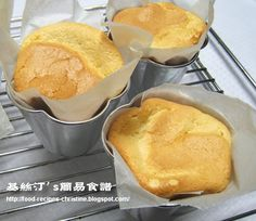 Cake Wrapped in Paper: eggs, butter, milk, cake flour, sugar, vanilla, and cream of tartar
