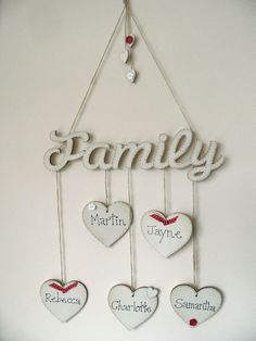 shabby chic style wooden heart hanging family tree photo plaque mothers day gift | Home, Furniture & DIY, Home Decor, Plaques & Signs | eBay!