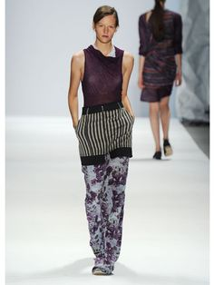 Pijama inspired pants with fall 2012 insprioed hues (wines)