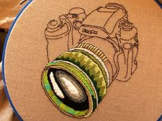 Embroidered Camera by 'the smallest forest'
