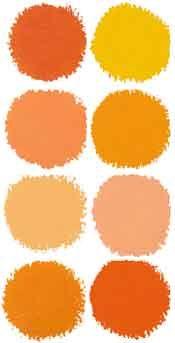 orange paint swatches