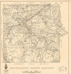 We found a whole lot of different maps of Maungakawa. Cambridge is the closest town. Some of the maps were historical - they had some names that we hadn't heard used.