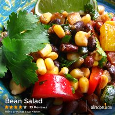 Bean Salad | A spicy bean salad that can also be used as a topping for tostadas.