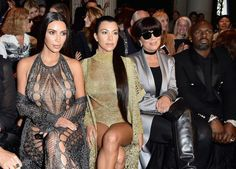 Kim Kardashian, Kourtney Kardashian, Kris Jenner & Corey Gamble Attend Balmain Show At PFW