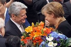 New German President sworn into office. Joachim Gauck.