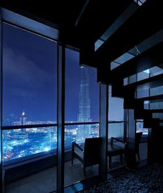 Penthouse with a View. Maybe the penthouse of Vishous or Revenge. From the blackdagger brothers novels Apartment View, Dream Apartment, Apartment Goals, Future House, Luxury Apartments, Luxury Homes, Luxury Penthouse, Pent House, My House