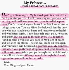 My princess.... I will heal your heart