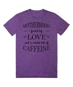 Riot Guide Heathered Purple 'Motherhood: Fueled by Love' Tee by Riot Guide #zulily #zulilyfinds