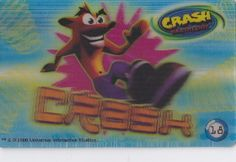 CARD CARTA 3D  CRASH BANDICOOT MR. DAY PARMALAT 2000 CARTA N.  18  OTTIMA