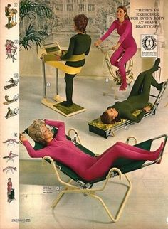 Wellness, Fitness and Diet: Boring Online Personal Training and Awesome Retro Workout Wear Vintage Advertisements, Vintage Ads, Vintage Posters, Vintage Sport, Retro Advertising, Vintage Glamour, Vintage Stuff, Training Equipment, No Equipment Workout