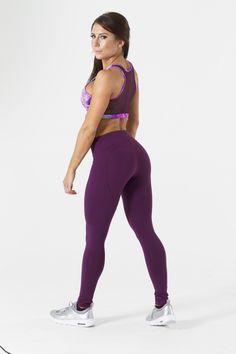 Purple Heart Shape Buttoms  High Waisted Support  100% Supplex