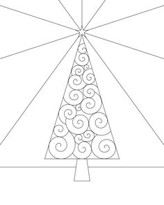 Christmas Tree Coloring Page Printable | Coloring Page