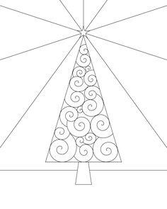Christmas Tree Coloring Page Printable | Coloring Page