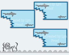 Free Printable Shark Party Invitations
