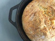 Roasted Garlic Skillet Bread | The Greek Vegan