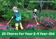 25 Chores Your 2-4 Year-Old Should Be Doing (And How To Get Him/Her To Work)